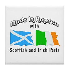 Scottish-Irish Tile Coaster