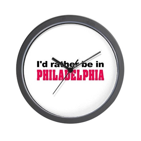 I'd Rather Be in Philadelphia Wall Clock