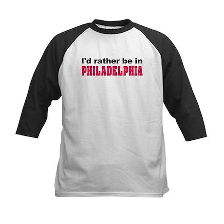 I'd Rather Be in Philadelphia Kids Baseball Jersey