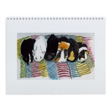Cute Guinea pig art Wall Calendar