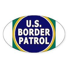 Border Patrol Oval Decal