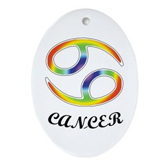 Cancer Oval Ornament