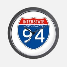 Interstate 94 - ND Wall Clock