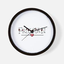 Friesian Hearts Wall Clock