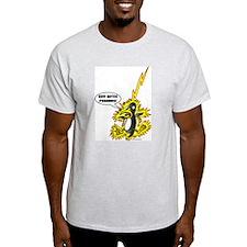 God Hates Penguins Ash Grey T-Shirt