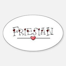 Friesian Hearts Oval Decal