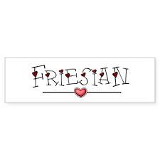 Friesian Hearts Bumper Bumper Sticker