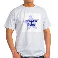 Braydon Rules Ash Grey T-Shirt