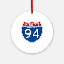 Interstate 94 - MN Ornament (Round)