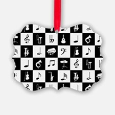Stylish modern music notes and in Ornament