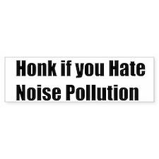 Noise Pollution Bumper Bumper Sticker
