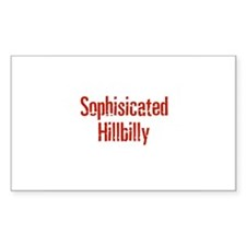 Sophisicated Hillbilly Rectangle Decal