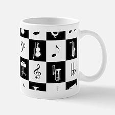 Stylish modern music notes and instruments Mugs