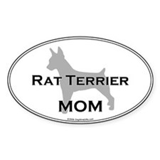 Rat Terrier MOM Oval Decal