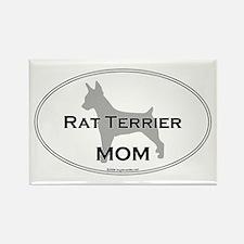 Rat Terrier MOM Rectangle Magnet