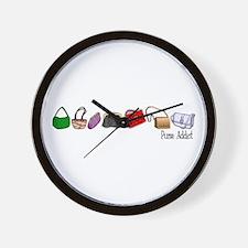 Purse Addict Wall Clock