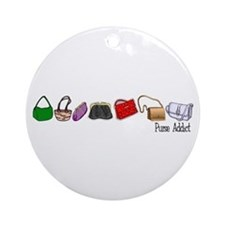 Purse Addict Ornament (Round)