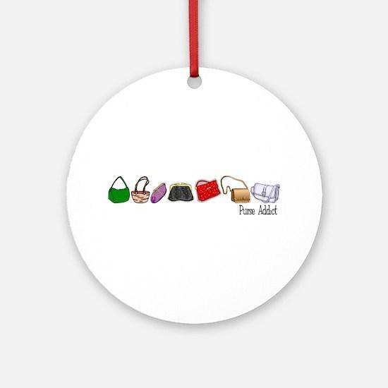 Purse Addict Ornament (Round)