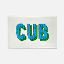 CUB TEAL SHADOW Rectangle Magnet