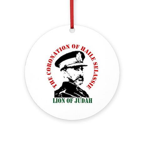 Haile Selassie Ornament (Round)