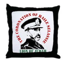 Haile Selassie Throw Pillow