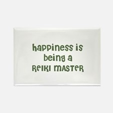 Happiness is being a REIKI MA Rectangle Magnet