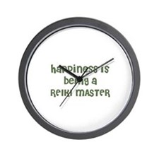 Happiness is being a REIKI MA Wall Clock