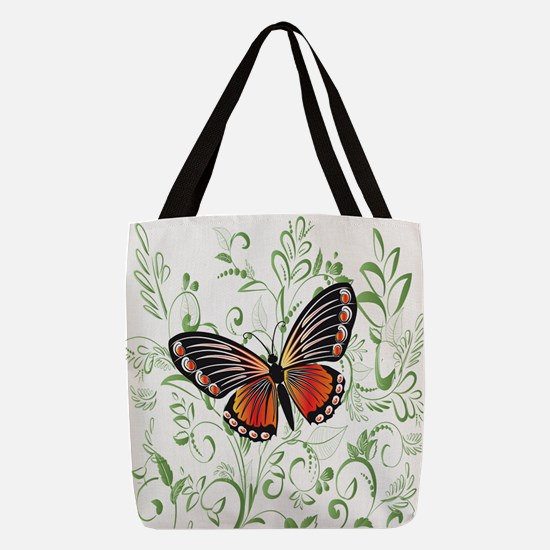 Whimsical Butterfly Polyester Tote Bag