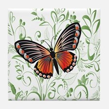 Whimsical Butterfly Tile Coaster