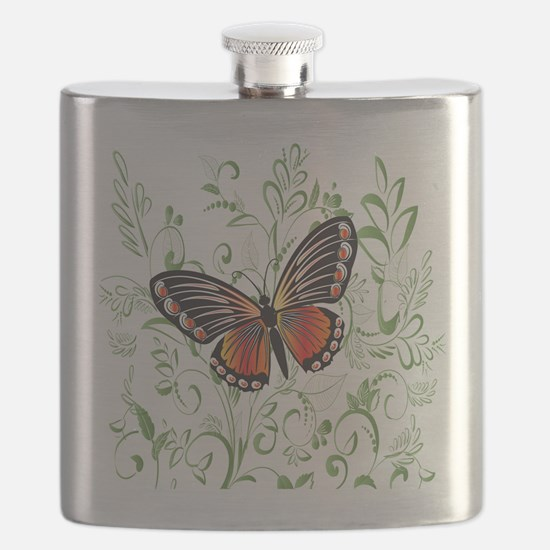 Whimsical Butterfly Flask