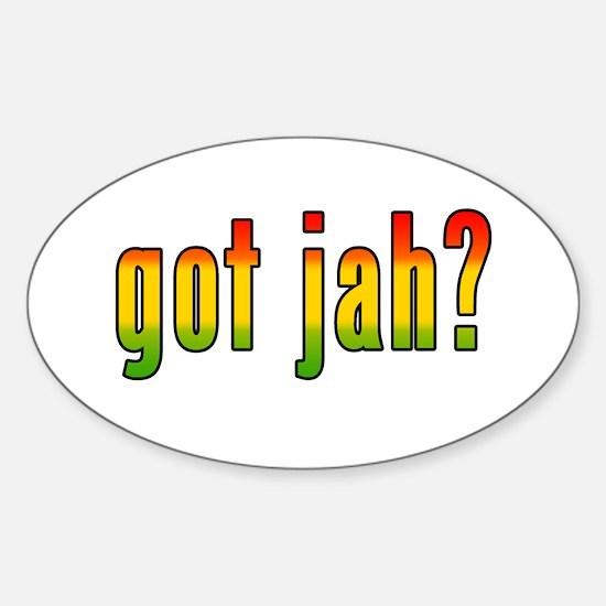 got jah? Oval Decal
