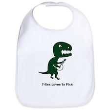 T-Rex Loves To Pick Bib