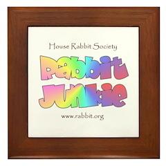 Rabbit Junkie Framed Tile