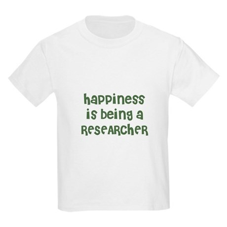 Happiness is being a RESEARCH Kids T-Shirt