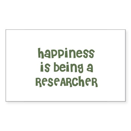 Happiness is being a RESEARCH Sticker (Rectangular