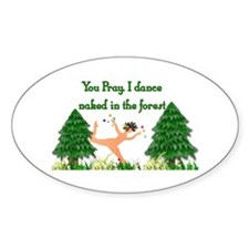 Naked Pagan Oval Decal