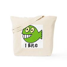 I bite - green Tote Bag