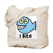 I bite- blue Tote Bag