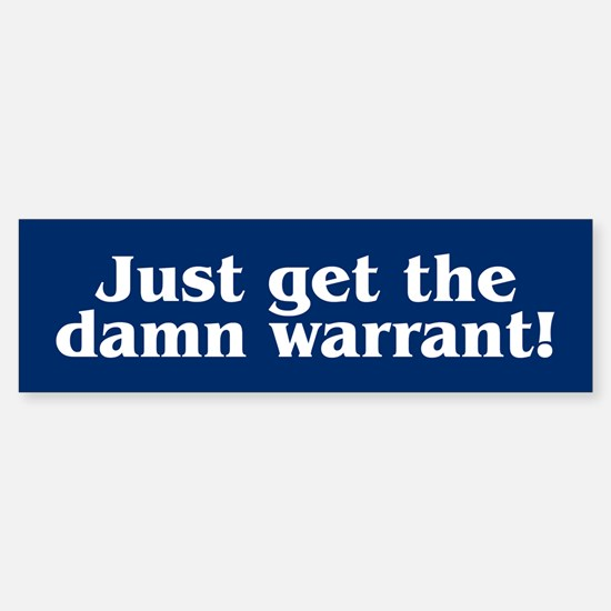 DAMN WARRANT Bumper Car Car Sticker