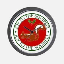 Joy to the Squirrel Wall Clock