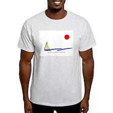 San Simeon Ash Grey T-Shirt