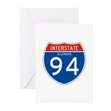 Interstate 94 - IL Greeting Cards (Pk of 10)