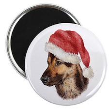 Christmas German Shepherd dog Magnet