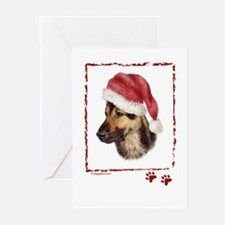 Happy Holidays German Shepherd dog Greeting Cards