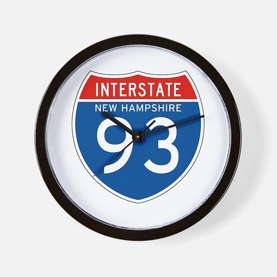 Interstate 93 - NH Wall Clock