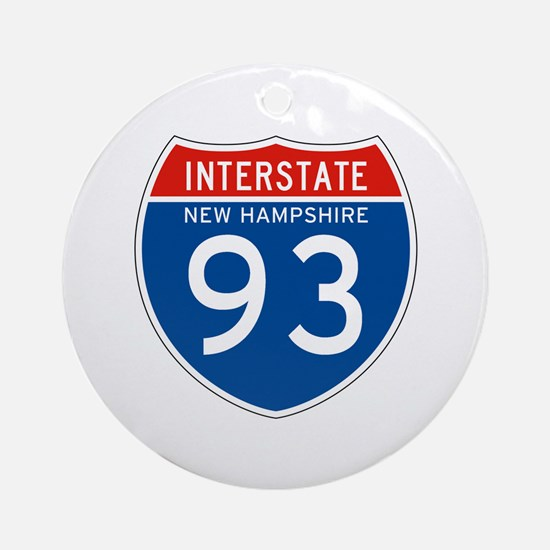 Interstate 93 - NH Ornament (Round)