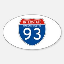 Interstate 93 - MA Oval Decal
