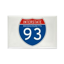 Interstate 93 - MA Rectangle Magnet
