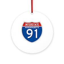 Interstate 91 - MA Ornament (Round)