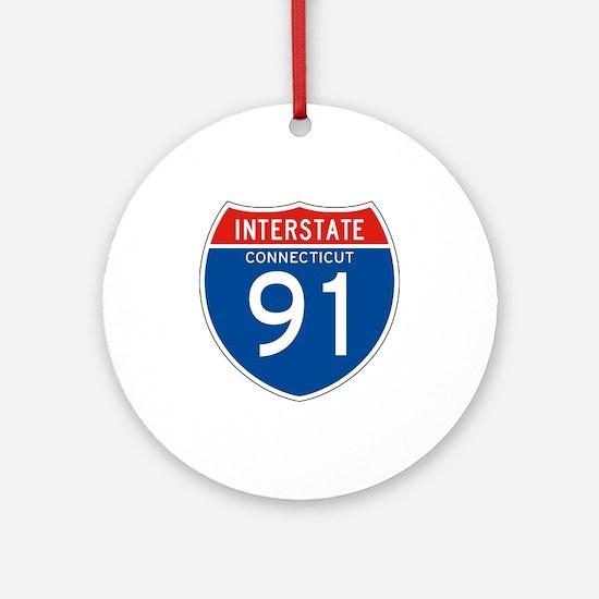 Interstate 91 - CT Ornament (Round)